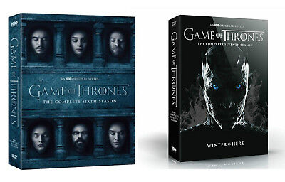 Game of Thrones: The Complete 6-7 Seasons 6th  7th (DVD) Box Set Bundle Combo