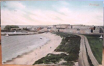 Irish Postcard PORTRUSH Sailboats Northern Ireland UK Valentine Dublin 1908