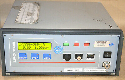 Test Vac (H SCHREINER LPC 796 - 5694A Leck-Messcomputer Lecktester 230VAC LEAK DETECTOR)