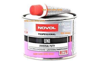NOVOL UNI UNIVERSAL PUTTY Body Filler Car van Hard Dent Repair  250g