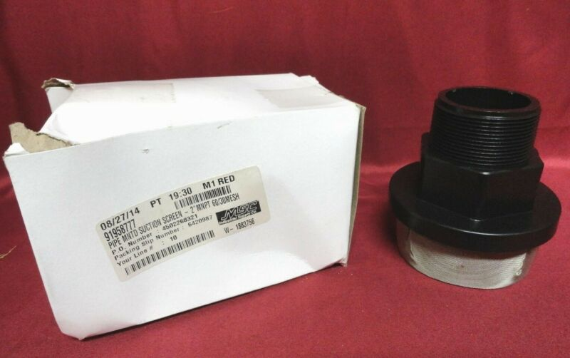 """MSC ~ (NEW) 2"""" PIPE MOUNTED SUCTION SCREEN ~ PN M16-60/30 ~ 91958777 ~ NEW"""
