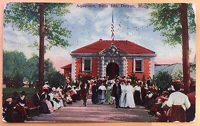 1909 Aquarium, Belle Island, Detroit, Mich. MI  Michigan
