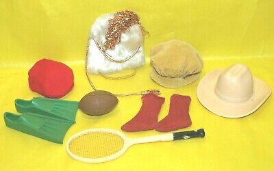 Vintage Barbie KEN DOLL HATS, SOCKS, ACCESSORIES 10 PIECE LOT, CLEAN, NICE