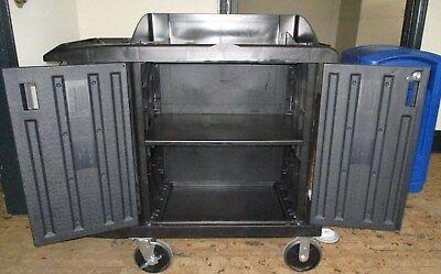 Set Of 5 Rubbermaid 6192 Fg619200bla Executive Compact Housekeeping Cart