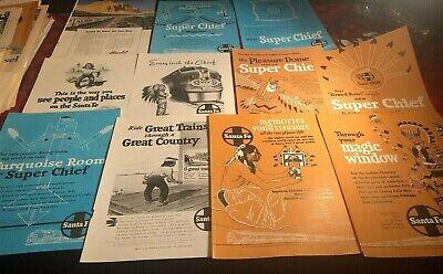 11 Santa Fe Railroad Vintage Print Ads Native American Images