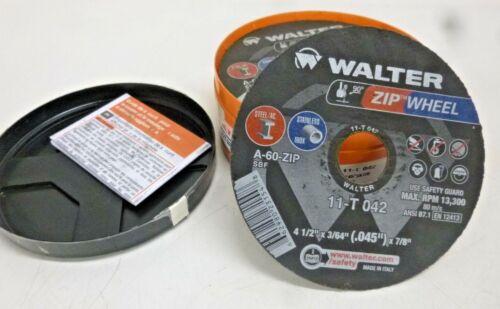 NEW! Walter ZIP Cutoff Wheel, 4-1/2