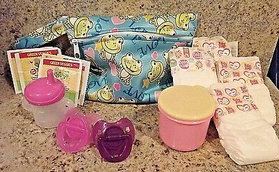 BABY ALIVE REFILL PACK ALL U NEED - 4 FOOD 4 DIAPERS- 1DIAPER BAG-2 PACIS -CUP, used for sale  Diamond Springs