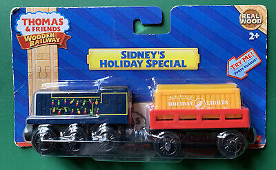 Thomas & Friends Wooden Railway Sidney's Holiday Special Lighted cargo F/P Y9274