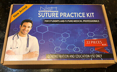 Suture Practice Kit Complete Suture Training Kit With Silicone Pad Suture 22 Pcs