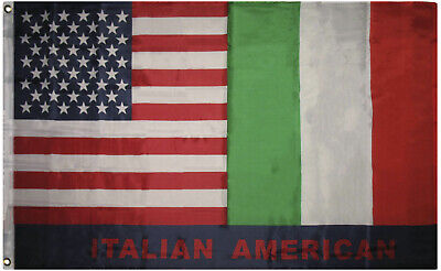 3x5 Italian American Flag Italy USA Friendship Nylon Poly Blend 3'x5' - Italian Banner
