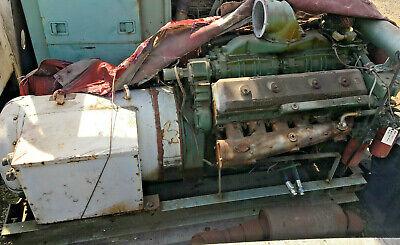 300kw Detroit Diesel 12-v71 Marine Cooling Engine Delco Generator E7371