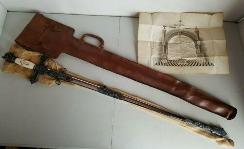 Horstmann Knights Templar Masonic Sword w/Scabbard + Bag - Id