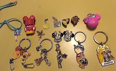 Disney Jewelry Vintage through Modern Lot Costume Tinkerbell Pooh Mickey As Is