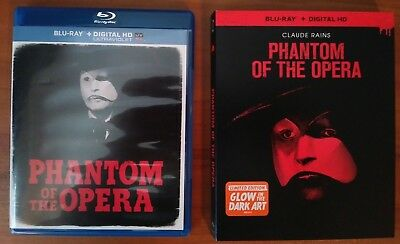 The Phantom of the Opera (Blu-ray, 2014) Glow in the Dark Slipcover -No Digital