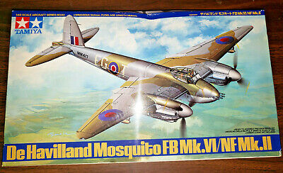 $160 FREE EXTRAs NEW De Havilland Mosquito FB Mk.VI/NF Mk.II Tamiya # 61062 1:48 De Havilland Aircraft