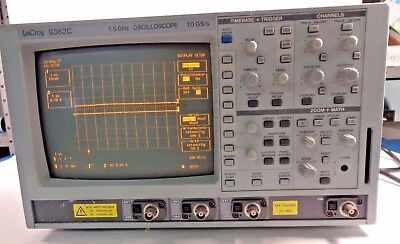 Lecroy 9362c Digital Oscilloscope 1.5ghz 10gss 2-channel 50 Hs Options