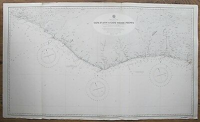 1836-8 AFRICA WEST COAST CAPE ST ANN TO CAPE THREE POINTS ADMIRALTY CHART MAP