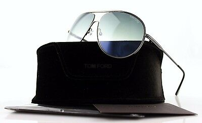 RARE NEW Authentic TOM FORD Cliff Pilot Gunmetal Sunglasses TF 450/S 09B FT 450