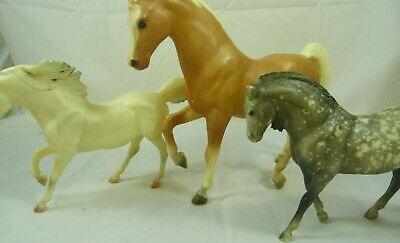 Breyer Toy Horse Collection Grey Spotted Brown White Three Horses LOT