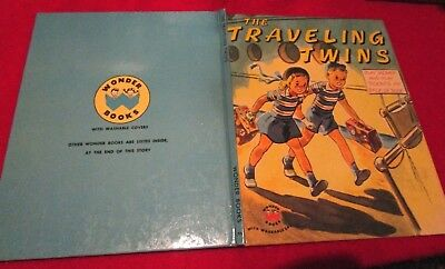 Vintage 1953 Wonder TRAVELING TWINS w/ Tickets & American Express Play Money NEC - Fun Express Tickets