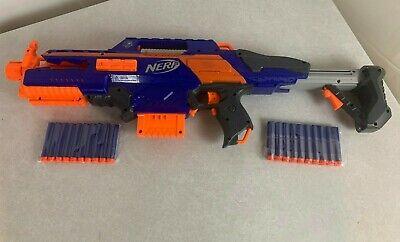 Nerf Blue/orange CS-18 Dart Blaster Gun & Clip 20 Bullets