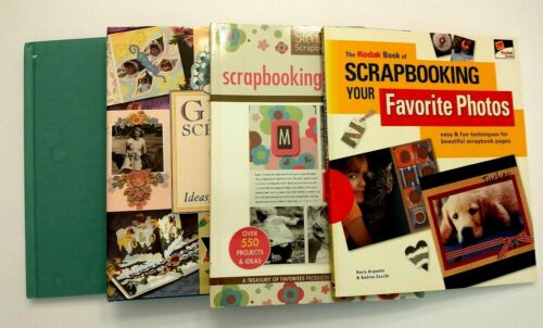 Lot of 4 Scrapbooking Idea Books ~ Great condition                          BB24