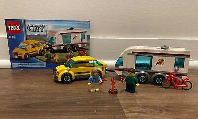 LEGO CITY 4435 Car & Caravan with Instructions 100% Complete