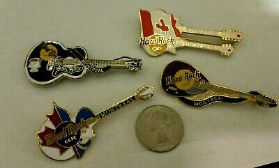 (4) Hard Rock Cafe Montreal Pins - NEW