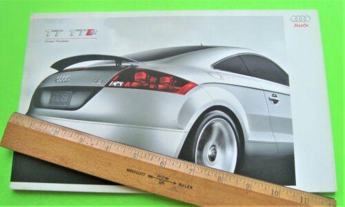 2009 AUDI TT ROADSTER & COUPE BIG DLX COLOR CATALOG Brochure 68-pgs USA ED Xlnt+