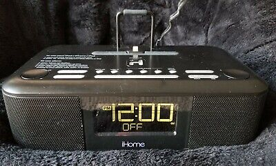 iHome HDL95 AM/FM Dual Alarm Clock Radio with iPhone and iPod Docking Station