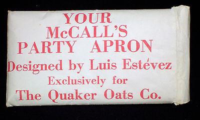 Uncut Mccall's Party Apron By Luis Estevez For Quaker Oats Co