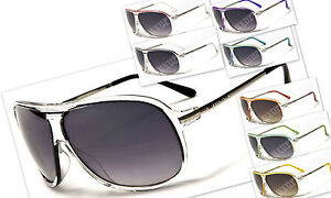 Aviator-DG-Eyewear-Sunglasses-Shades-Clear-Plastic-Pick-your-colors-multi-lens