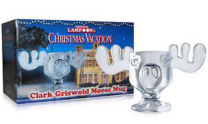 Christmas Vacation Glass Moose Eggnog/Cups/Mugs