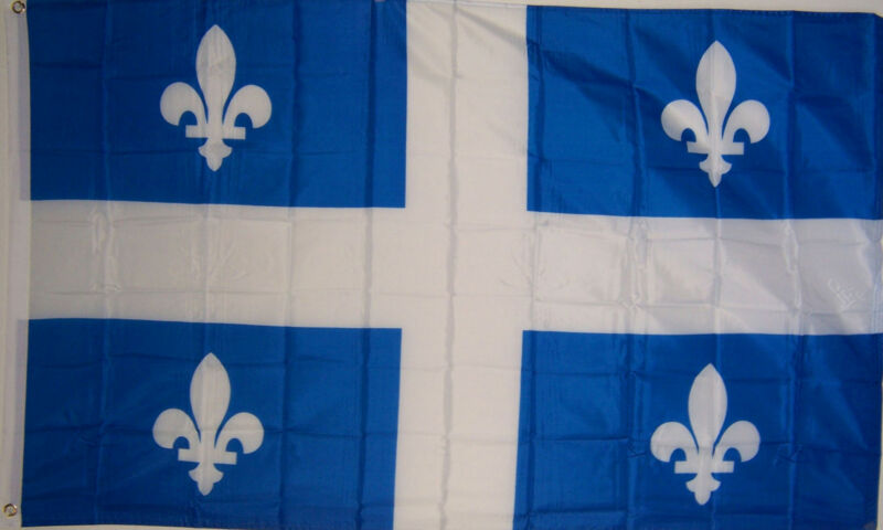 NEW BIG 2x3ft QUEBEC CANADA DOUBLE SIDED CANADIAN FLAG quality usa seller