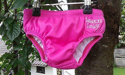 Beco Badehose pink+Schwimmflügel,S/3-6 Monate/eher -2,5 Jahre,wie neu,1xgetr.