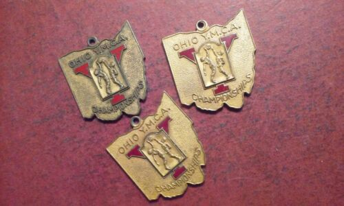 Lot 3 OHIO YMCA Basketball Championship Medals 1939 1940 1941 Ind. League