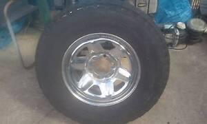 Toyota Land Cruiser chrome spare wheel 7.50 x 16 inch Fairfield Heights Fairfield Area Preview