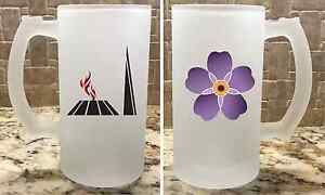 Frosted Glass Beer Mug Stein 16oz Armenian Geoncide Anmoruk Perfect Gift New