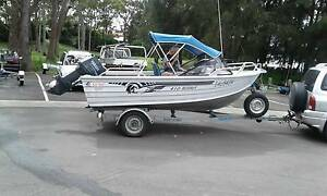 ally craft 410 scout boat trailer and motor. Campbelltown Campbelltown Area Preview