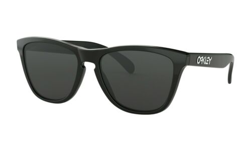 Oakley Frogskins Sunglasses 24-306 Polished Black Frame W/ Grey Lens BRAND NEW
