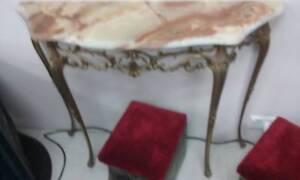 SIDE TABLE - HALL - Solid Marble Top Kurri Kurri Cessnock Area Preview