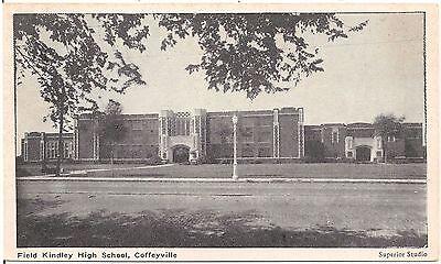 Field Kindley High School In Coffeyville Ks Postcard