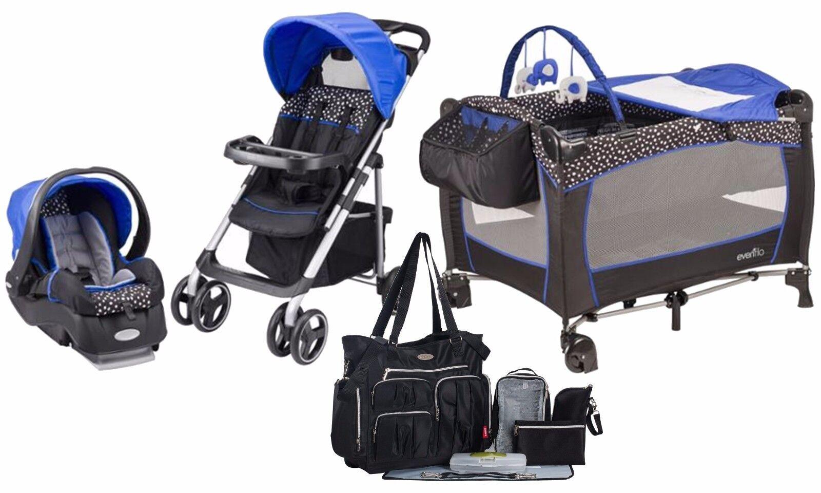 baby stroller travel system car seat playard diaper bag ebay. Black Bedroom Furniture Sets. Home Design Ideas