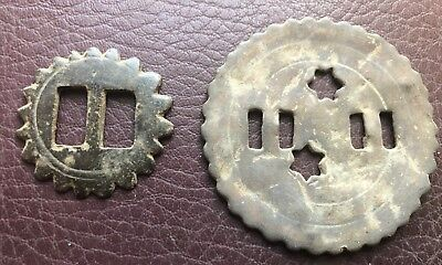 Lot of 2 Antique Horse harness fittings from the 17th to 19th centuries VV34