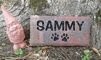 Pet memorial cat or dog personalized engraved sandcarved nice paver stone