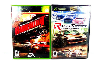 RALLI SPORT CHALLENGE & BURNOUT REVENGE XBOX Games Lot Great Condition Tested  for sale  Shipping to Nigeria