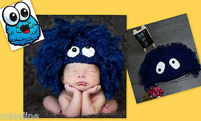 ★★★NEU Baby Fotoshooting Kostüm Kleiners Krümel Monster blau  4-18 Monate★★★Nr.R (Baby Jungen Monster Kostüm)