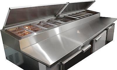 New Coolman  3-1/2 Door Door Refrigerated Pizza Prep Table  S.S TOP96
