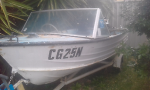 Aluminum 12ft boat runabout tinny with 25hp Johnson Minchinbury Blacktown Area Preview