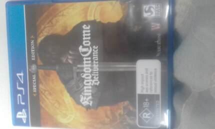 KINGDOM COME DELIVERANCE PS4 GAME, AS NEW. SPEC. EDITION